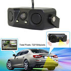 HD Night Vision Camera monitor 2LED Car Rear View Camera W/ Radar Parking Sensor