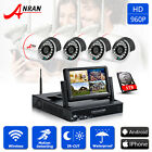 "ANRAN 7"" Monitor 960P Wireless 4CH NVR Camera Surveilance Security Systems 1TB"