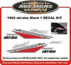1994 SKI-DOO Mach 1 670 Rotax Reproduction Decal Kit