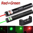 10Miles 1MW Green&Red Visible Beam 18650 Power Laser Pointer Pen USA