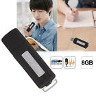 8GB USB Disk Pen Flash Drive Digital Audio Voice Recorder 150 hrs Recording Mini