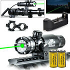 532nm Green Dot Laser Sight Rifle Military 2x16340 Battery+Charger Remote Switch