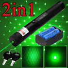 532nm 303 Green Visible Beam Light Zoom Focus Pointer Lazer Pen 18650&Charger