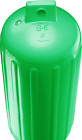 Green Polyform G6 Boat Fender 11'' x 30'' Bumper Bright Ribbed Twin Eye USA New