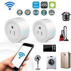 2PCS Smart Wi-Fi Mini Outlet Plug Switch Work W/ Echo Alexa Remote Control B-SK