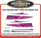 1994 POLARIS INDY STARLITE   Reproduction hood decals   graphics star lite
