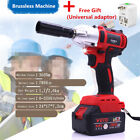 360n.m Torque 68V Autos Brushless Electric Impact Wrench + Adaptor Kit Universal