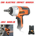 Portable 380n.m Electric Wrench Car Impact Car Changing Tire Tools 1/2 Connector