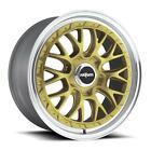 "18"" x8.5 Rotiform LSR R156 Gold 5x112 45 ET R156188543+45 Single Rim"