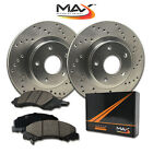 1995 1996 1997 Chrysler Sebring Cpe Cross Drilled Rotors AND Ceramic Pads Front