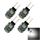4x White Office G4 Cabinet Blub Crystal Droplight Lamp 5 5050 SMD LED T006