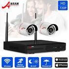 ANRAN HD 720P 4CH WIFI NVR Home Wireless IP Camera Security CCTV System IR NO/1T
