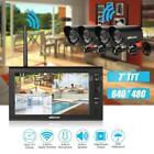 "KKmoon 2.4GHz 7"" LCD Monitor 4CH DVR 4pcs Waterproof IR Camera CCTV System T9K7"