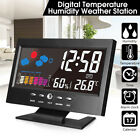 ELEGIANT LCD Thermometer Hygrometer Weather Station Snooze Alarm Clock Calendar