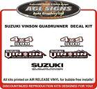SUZUKI VINSON QUADRUNNER 500 4X4 DECAL SET reproductions