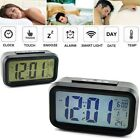 Digital Snooze LED Alarm Clock Backlight Time Calendar Temperature Home Decor