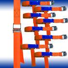 8er Pack 25 Mm Ratchet, Tension Belt, Fixing Strap 250 Dan 50 Cm Orange