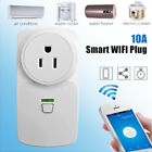 10A Smart WiFi Wall Switch Socket US Plug Outlet APP For Alexa Echo Google Home