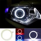 2X80mm Car Angel Eye COB Halo Ring LED DRL Projector Len Fog Driving Light
