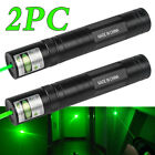 2 Packs 10Miles 1MW 532nm Green Laser Pointer 16340 Lazer Pen Visible Wholesales