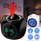 Alarm Clock Digital LED Display Portable Voice Talking Temperature Projecter
