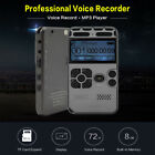 Rechargeable 64G HiFi Digital Voice Recorder Audio Sound Dictaphone MP3 Player U