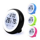 Home Digital Touch Screen Clocks Thermometer Hygrometer Battery Powered 3 in 1