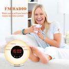 Sunrise Natural Light Alarm Clock+RGB LED Light+FM Radio+Charger Wake Up Light