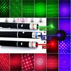 6in1 Green+Red+Blue/Violet Laser Pointer Pen Visible Beam Light & Star Caps us