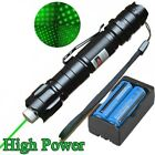 High Quality50Mile 532nm Green Laser Pointer Pen Star Cap Bright +18650 +Charger