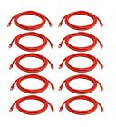 iMBAPrice - Cat6 Snagless RJ45 Ethernet Patch Cable in Red (10 Feet) - 10 Pack