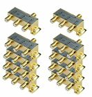 iMBAPrice 110014-10 (10-Pack) Glod Plated 2.4 Ghz 3-Way Coaxial Cable Splitter