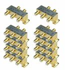 iMBAPrice 110015-10 (10-Pack) Glod Plated 2.4 Ghz 4-Way Coaxial Cable Splitter