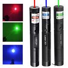 3X 50Miles Military Blue&Green&Red Laser Pointer Lazer Pen Beam Light