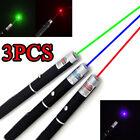 3Packs 5mw Red+Green+Blue Purple Laser Pointer Pen Beam Light Lazer Wholesales