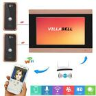 "7"" TFT LCD Wired Wifi Video Door Phone Doorbell Intercom with 2 X 1000TVL Camera"