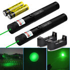 2Pcs Military 20Miles 532nm Green Laser Pointer Pen Visible Beam Light + Charger