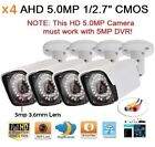 "x4 AHD 5.0MP 1/2.7"" 2560x1920 Waterproof In/outdoor Camera 36IR 5MP 3.6mm Lens"