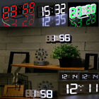 Modern Design Large Digital LED Wall Clock Watch Home Time Alarm Snooze Decor