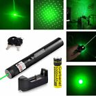 Green Laser Pointer Pen 532nm 1Mw Visible Beam Light + 18650 Battery+Charger HOT