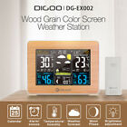 DIGOO HD Color Wood Weather Station Thermometer Barometer Humidity Alarm