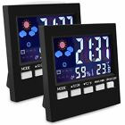 Indoor Thermometer with Digital Hygrometer,Color Digital LCD Display ( 2-Pack )