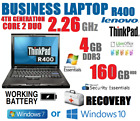 LENOVO BUSINESS LAPTOP 4TH GEN. CORE 2 DUO 4GB+160GB NOTEBOOK DVD WIFI BATTERY