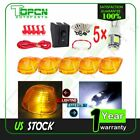 5x 1313A Amber Cab Running Marker Cover W/ Wire + Free Bulb Fit Ford Super Duty
