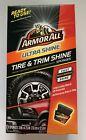 1 Box Armor All Tire & Trim Shine Long Lasting Wipe on Multi Surface 8 Sponges