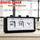 Modern Flip Date/ Day Display Desk Table Flip Down Page Alarm Clock Gift