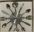 "Stainless Modern  15""  Utensil  Wall Clock"