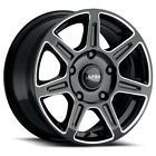 (4) 16x8 Black Ultra Toil Van 450BM 6x205 55 Nitto Dura Grappler 245/75R16 Rims