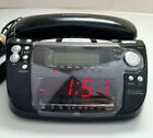 Emerson Research CKT9087 Alarm Clock Radio Phone Smart Set Tested AM FM Landline