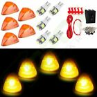5X For 94-98 Dodge Amber 264141AM Cab Marker Running Light w/T10 White Led+Wire